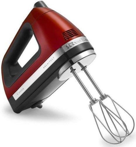 Kitchenaid 7 Speed Hand Mixer Candy Apple Red Swivel Cord With Free Bag And Rod Food