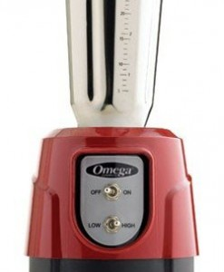 Omega-BL360R-1-HP-Blender-32-Ounce-Stainless-Steel-Container-Red-0