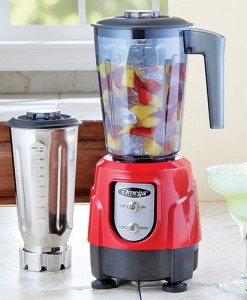 Omega-BL390R-1-HP-Blender-Tritan-Copolyester-and-Stainless-Steel-Container-Combo-Pack-Red-0