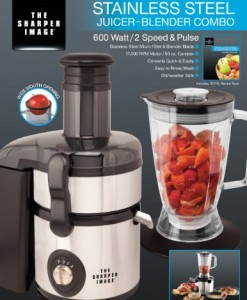 The-Sharper-Image-600-Watt2-Speed-and-Pulse-Stainless-Steel-Juicer-Blender-Combo-1
