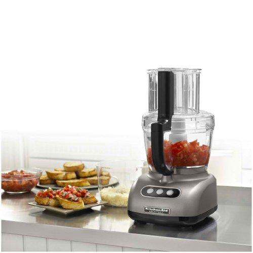 KitchenAid KFPW763CS Cocoa Silver 12-Cup Food Processor - Food ...